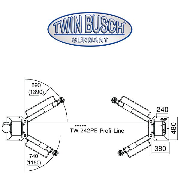 Dvostubna dizalica 4.2 tone Profi-line